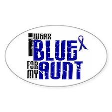I Wear Blue For My Aunt 6 Oval Sticker (10 pk)