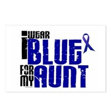 I Wear Blue For My Aunt 6 Postcards (Package of 8)