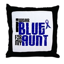 I Wear Blue For My Aunt 6 Throw Pillow