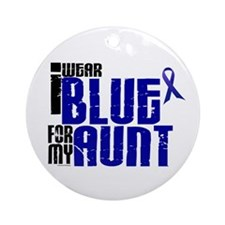 I Wear Blue For My Aunt 6 Ornament (Round)