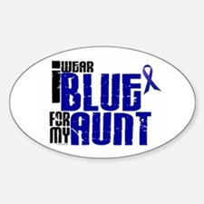 I Wear Blue For My Aunt 6 Oval Decal