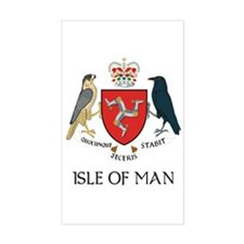 Isle of Man Coat of Arms Rectangle Decal
