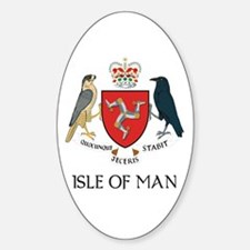 Isle of Man Coat of Arms Oval Decal
