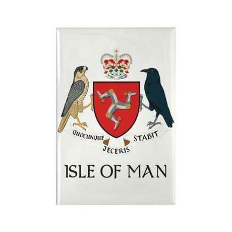 Isle of Man Coat of Arms Rectangle Magnet