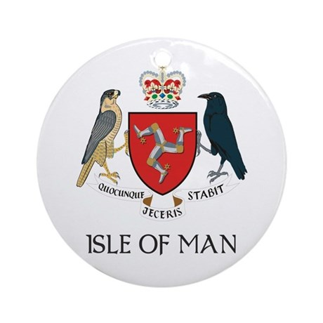 Isle of Man Coat of Arms Ornament (Round)
