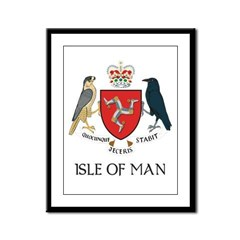 Isle of Man Coat of Arms Framed Panel Print