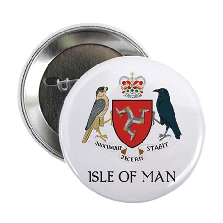 """Isle of Man Coat of Arms 2.25"""" Button"""