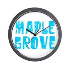 Maple Grove Faded (Blue) Wall Clock