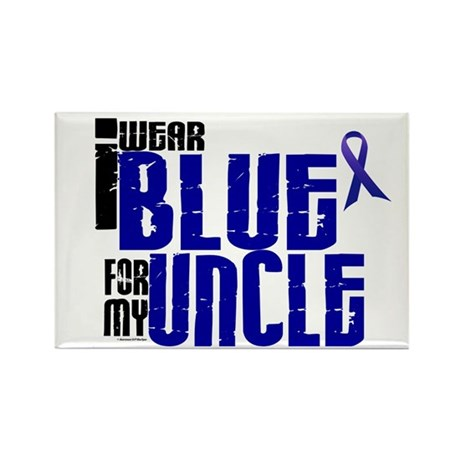 I Wear Blue For My Uncle 6 Rectangle Magnet