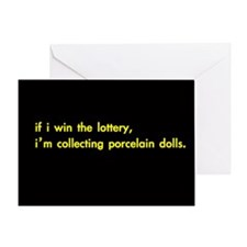'if i win the lottery' greeting card /any occasion