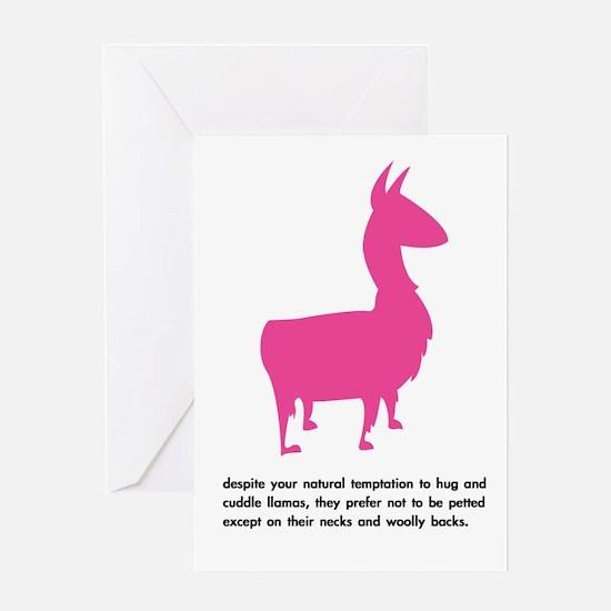 'cuddle llamas' greeting card (any occasion)