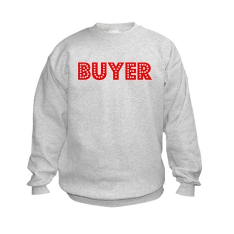 Retro Buyer (Red) Kids Sweatshirt