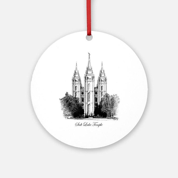 Salt Lake Temple Keepsake (Round)