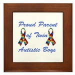 Autistic Twins Framed Tile