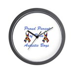 Autistic Twins Wall Clock