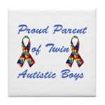 Autistic Twins Tile Coaster