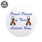"Autistic Twins 3.5"" Button (10 pack)"