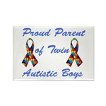 Autistic Twins Rectangle Magnet (10 pack)