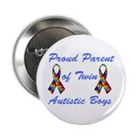 "Autistic Twins 2.25"" Button"