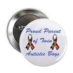"Autistic Twins 2.25"" Button (100 pack)"