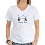 Autistic Twins Women's V-Neck T-Shirt