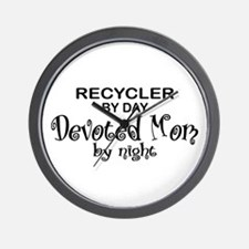 Recycler Devoted Mom Wall Clock