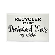 Recycler Devoted Mom Rectangle Magnet