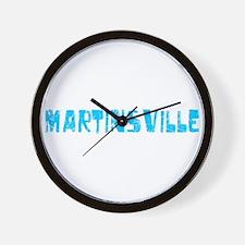 Martinsville Faded (Blue) Wall Clock