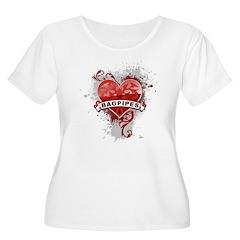 Heart Bagpipes T-Shirt