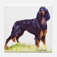 Gordon Setter portrait Tile Coaster