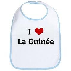 I Love La Guine Bib