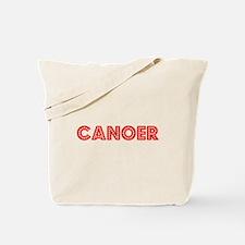 Retro Canoer (Red) Tote Bag