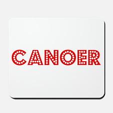 Retro Canoer (Red) Mousepad