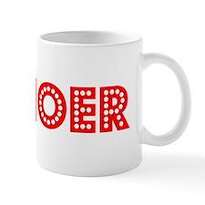 Retro Canoer (Red) Mug