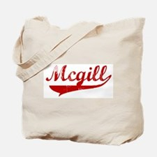Mcgill (red vintage) Tote Bag