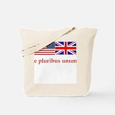 Unity US flag UK Union Jack flag bag Tote Bag