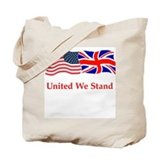 Unity bag - US and UK flags Tote Bag