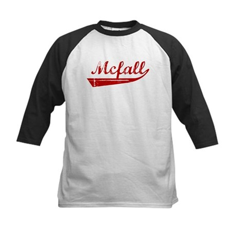 Mcfall (red vintage) Kids Baseball Jersey