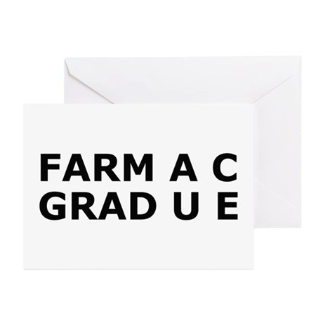 Funny Pharmacy Degree Greeting Cards (Pk of 10)