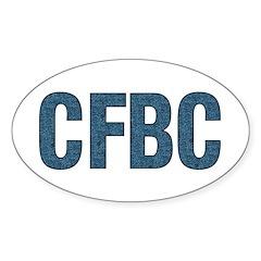 CFBC Blue Oval Sticker (10 pk)