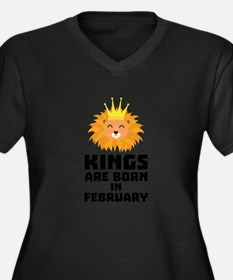 Kings are born in FEBRUARY C9z5c Plus Size T-Shirt