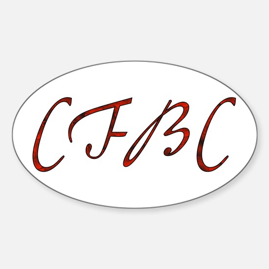 CFBC Red Logo Oval Decal
