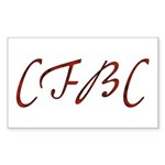 CFBC Red Logo Rectangle Sticker