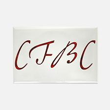 CFBC Red Logo Rectangle Magnet