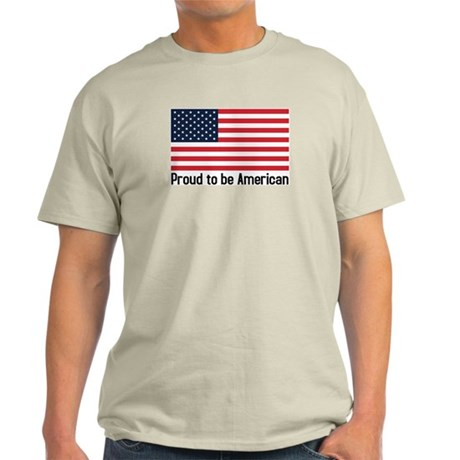 Proud to be American (flag) Ash Grey T-Shirt