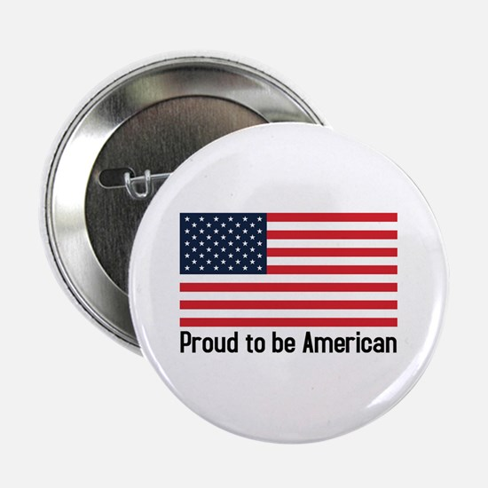 Proud to be American (flag) Button