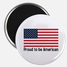 """Proud to be American (flag) 2.25"""" Magnet (100 pac"""