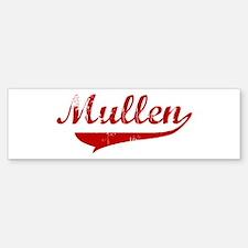 Mullen (red vintage) Bumper Bumper Bumper Sticker