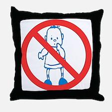 No Kids Allowed Throw Pillow