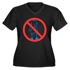 No Kids Allowed Women's Plus Size V-Neck Dark T-Sh